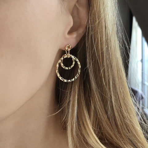 Raya - Circular Dangle Earrings - Kurafuchi