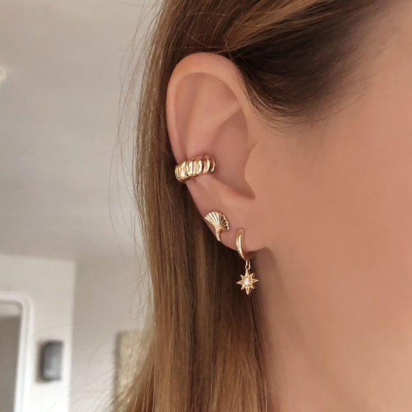 Shay - Domed Ear Cuff - Kurafuchi