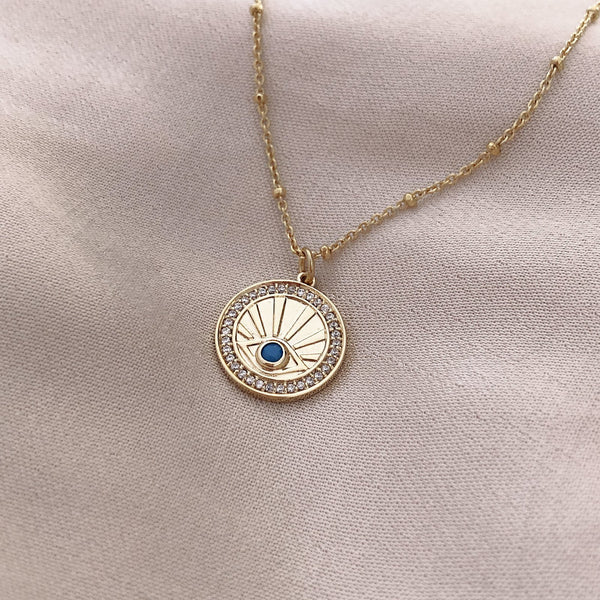 Xiomara - Eye Medal Necklace - Kurafuchi