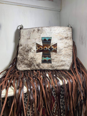 Half Pint Crossbody, Cross Mint Chocolate and Brown