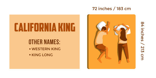 California King, Cal King, Western King, King Long.