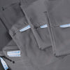 Classic Split King Starter Pack in Slate Gray, Sateen Cotton (includes 2 twin XL bases + 2 twin XL zip-on sheets, 1 king flat sheet, 2 king pillowcases)