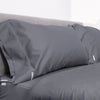 Euro Starter Pack in Slate, Sateen Cotton (includes 1 base + 1 zip-on sheet, 1 New-Way Duvet Cover, 2 pillowcases)