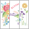 Full Bloom 3 Pack-contains 1 each Sprouting Garden, Framed in Flowers, Bloom Grow Blossom
