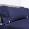 Euro Starter Pack in Navy, Percale Cotton (includes 1 base + 1 zip-on sheet, 1 New-Way Duvet Cover, 2 pillowcases)