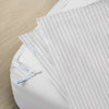 Premium Starter Pack in Pinstripe, Sateen Cotton (includes 1 base + 2 zip-on sheets)