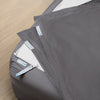 Premium Split King Starter Pack in Slate Gray, Sateen Cotton (includes 2 twin XL base + 4 twin XL zip-on sheets)