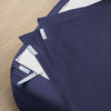Premium Split King Starter Pack in Navy, Sateen Cotton (includes 2 twin XL base + 4 twin XL zip-on sheets)