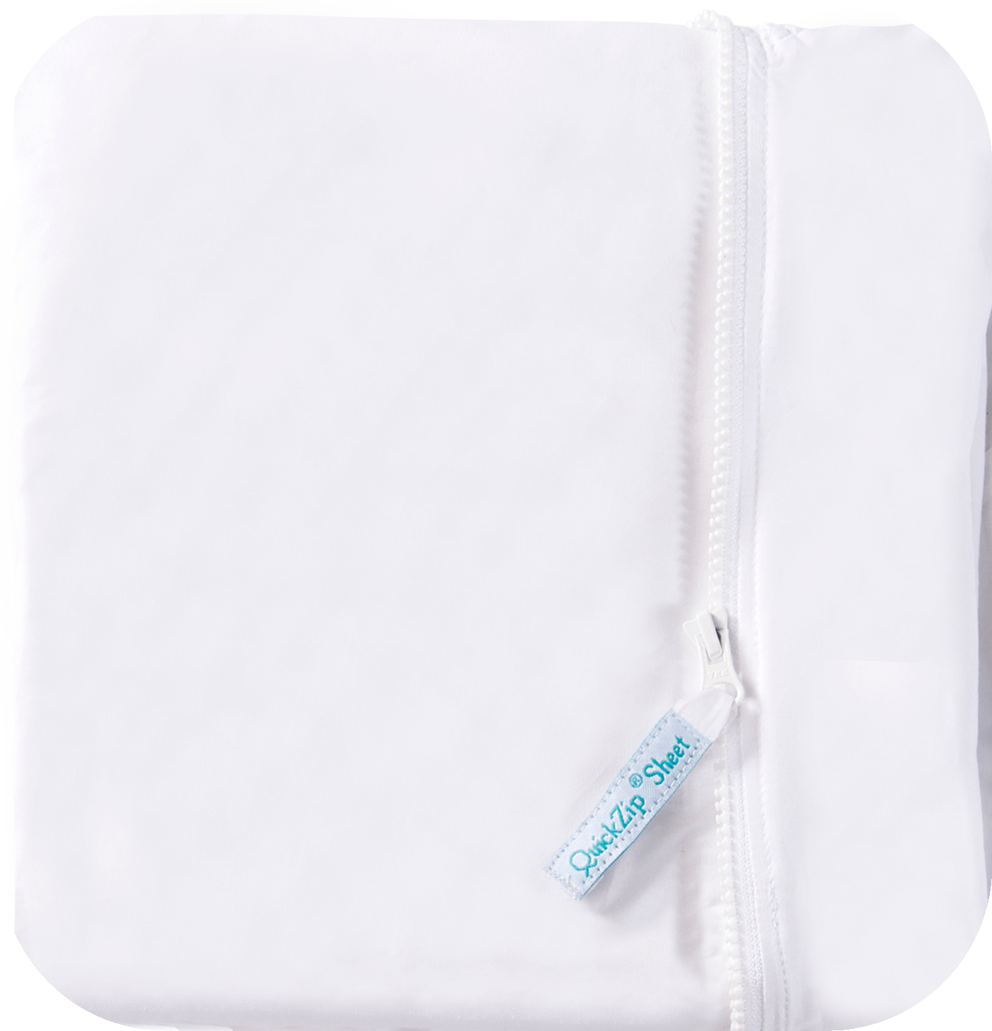 Crib White Base - QuickZip Company Zipper Sheets