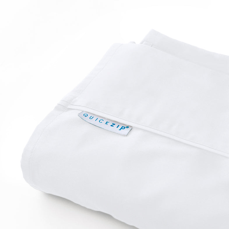 Closeout White Sateen Flat Sheet- Full Size