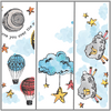 Get all three original designs., Over the moon, Clouds and Stars and Counting Sheep - plus a white base.