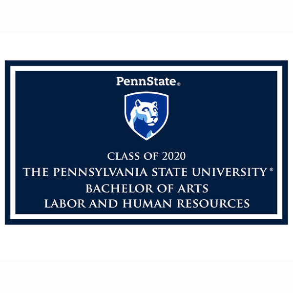 Labor and Human Resources B.A. 2020 plaque and magnet