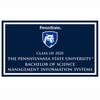 Management Information Systems B.S. 2020 plaque and magnet