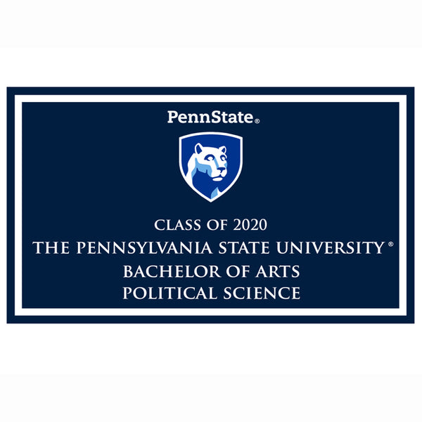 Political Science B.A. 2020 plaque and magnet