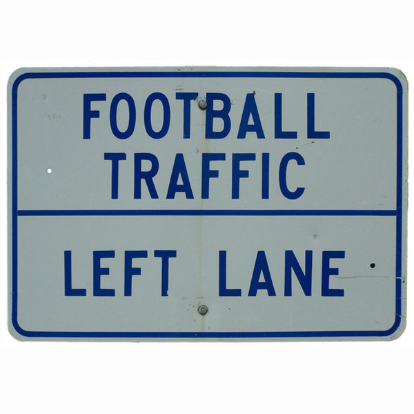 Football Traffic Left Lane