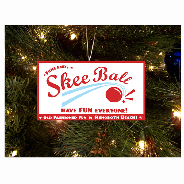 Funland Skee Ball Ornament