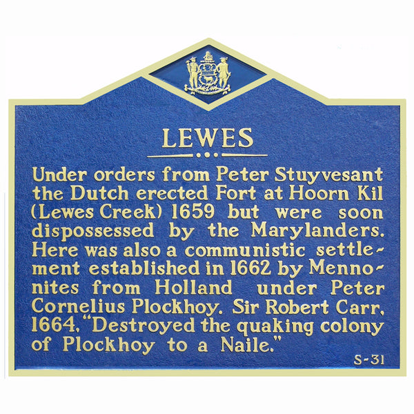 Lewes History Marker