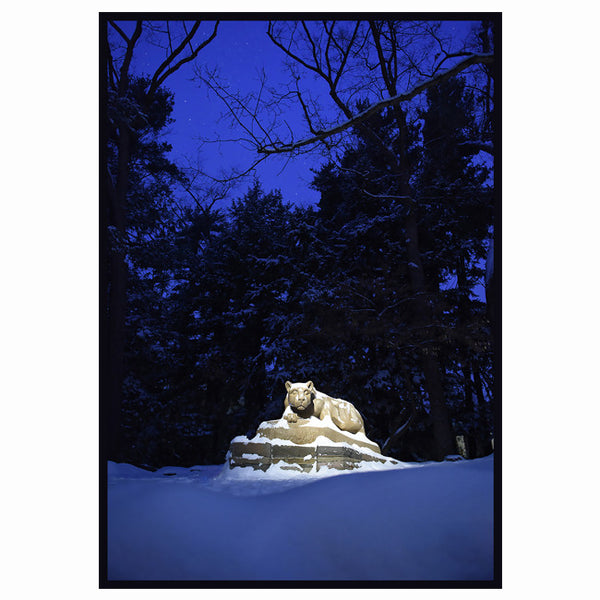 Lion Shrine Winter Evening