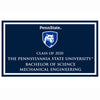 Mechanical Engineering B.S. 2020 plaque and magnet