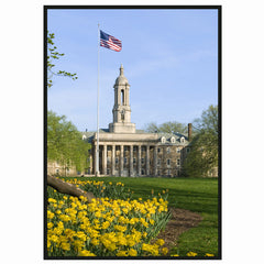 Old Main with Flag