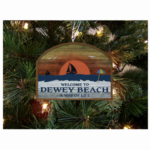 Welcome to Dewey Ornament