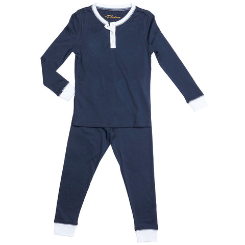 Kids Navy Blue Pajamas | Petidoux