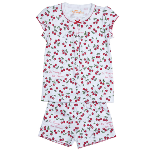 girl pajamas cherry