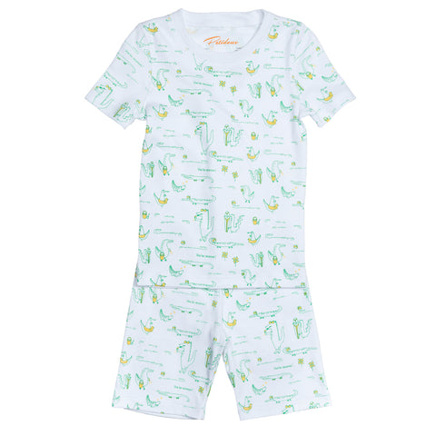 Alligators Summer Pajamas Set