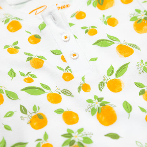 Orange Blossoms Baby Pajamas Set