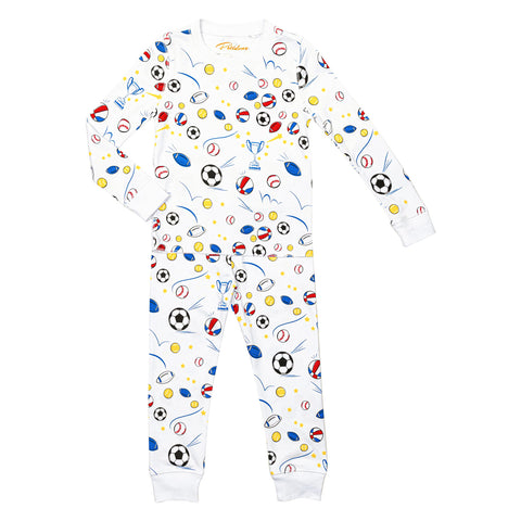 sports tennis football soccer tennis rugby pajamas Petidoux 100% Peruvian Pima cotton, chemical-free