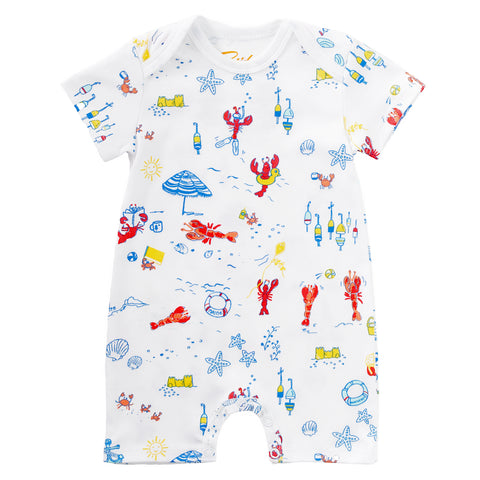 Lobsters on Vacation Baby Romper