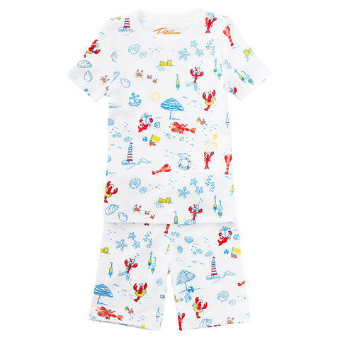 Lobster kids pajamas  pjs Maine Nantucket Petidoux