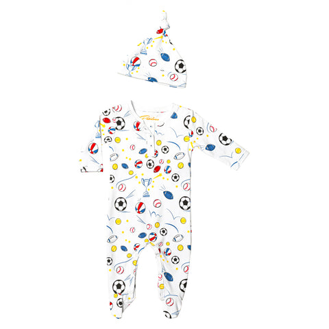 Sports Champions Onesie+hat Pajamas Set