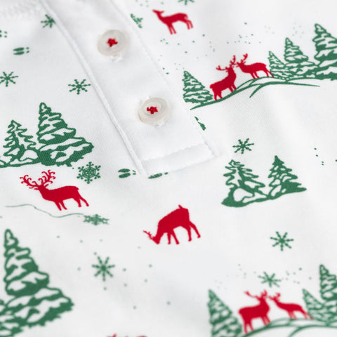 Reindeers winter long pajamas Petidoux