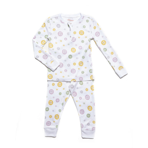 Cute as Yellow Buttons Pajamas