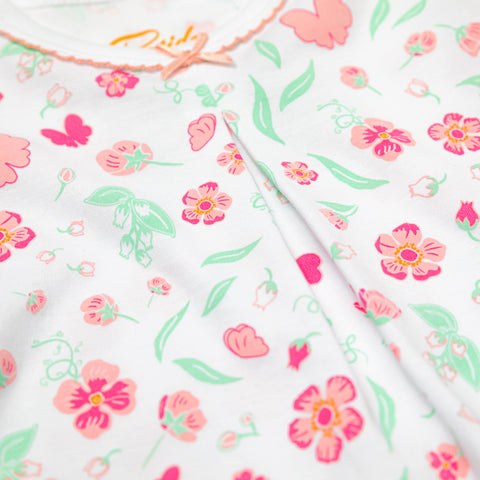 Pink flowers Girls Pajamas by Petidoux