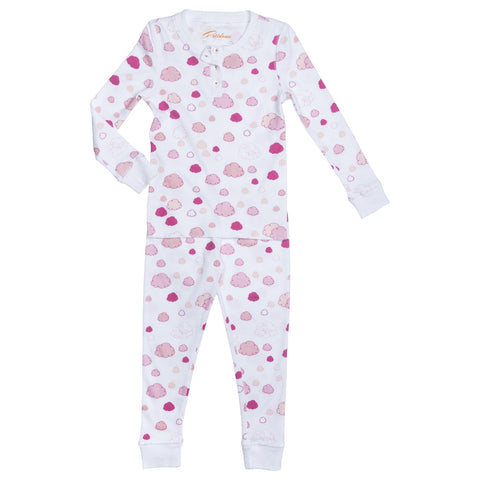 pink clouds girls pajamas Petidoux