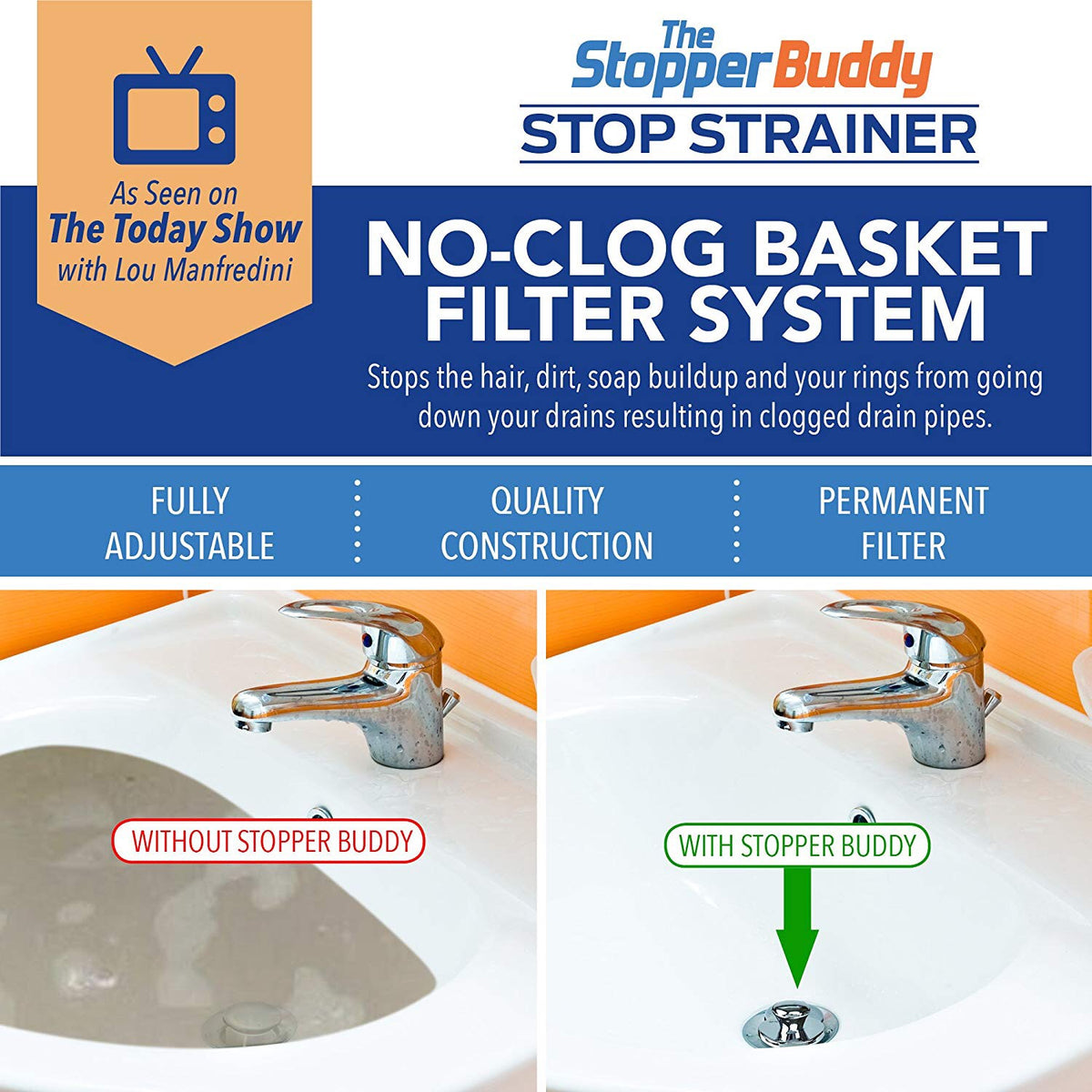 Stop Strainer for Bathroom Sink