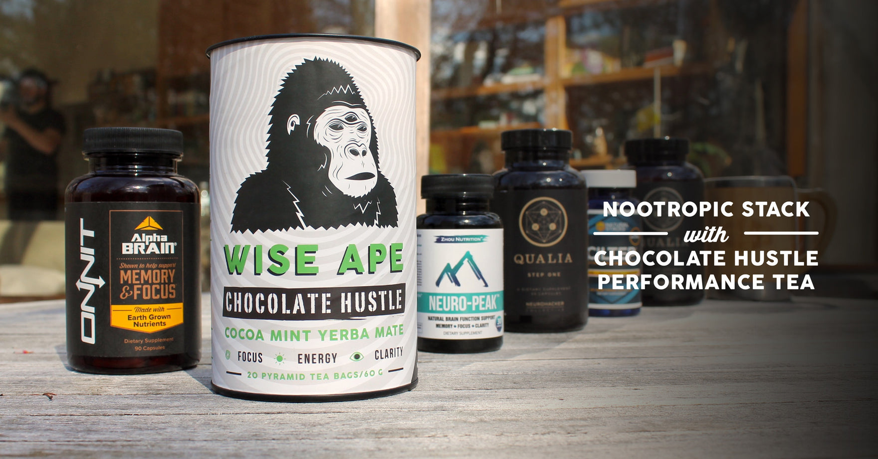 Nootropic Stack with Chocolate Hustle Adaptogenic Tea
