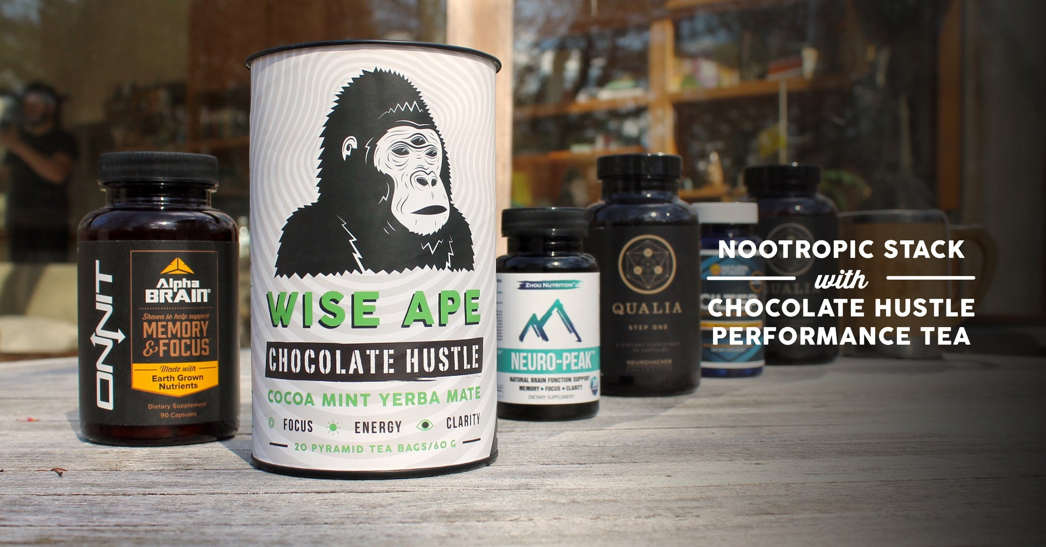 Nootropic Stack With Chocolate Hustle Adaptogenic Tea Wise Ape