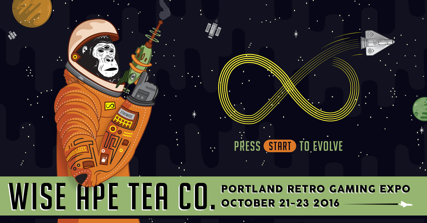 NEWS UPDATE: Wise Ape Tea to Sponsor the Portland Retro Gaming Expo 2016