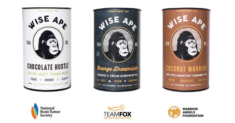 Wise Ape Tea announces two new tea blends and new non-profit partnerships.