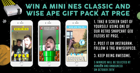 Wise Ape - Portland Retro Gaming Expo Snapchat Contest