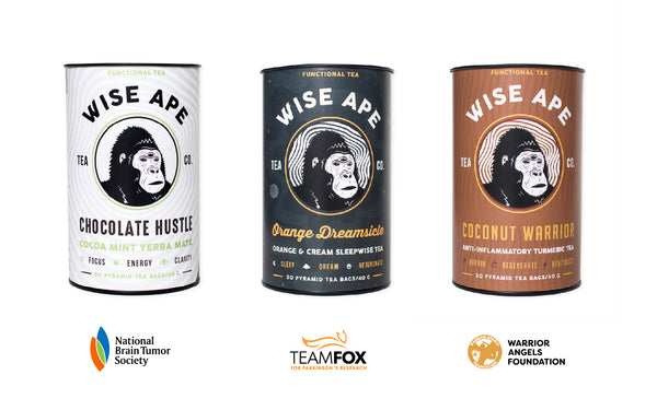 Wise Ape Tea announces new tea blends with new non-profit partners.