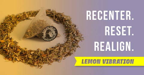 Lemon Vibration adaptogenic tea for anxiety and stress.