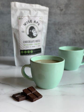 Chocolate Hustle yerba mate milk tea recipe.