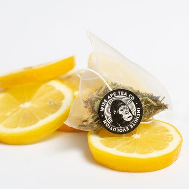 Lemon Vibration adaptogenic tea for anxiety, stress relief, and mood.