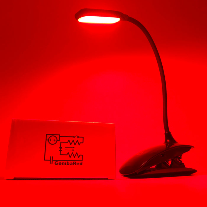 GembaRed Calm Red LED Booklight