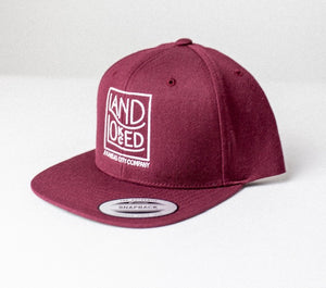 Maroon Land Locked Logo Snapback Hat
