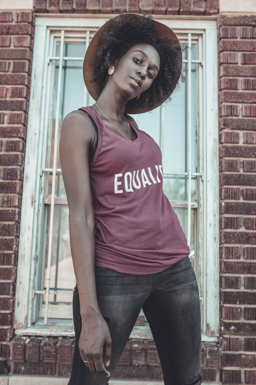 Summer EQUALITY Tank Top (Tri-Cranberry)
